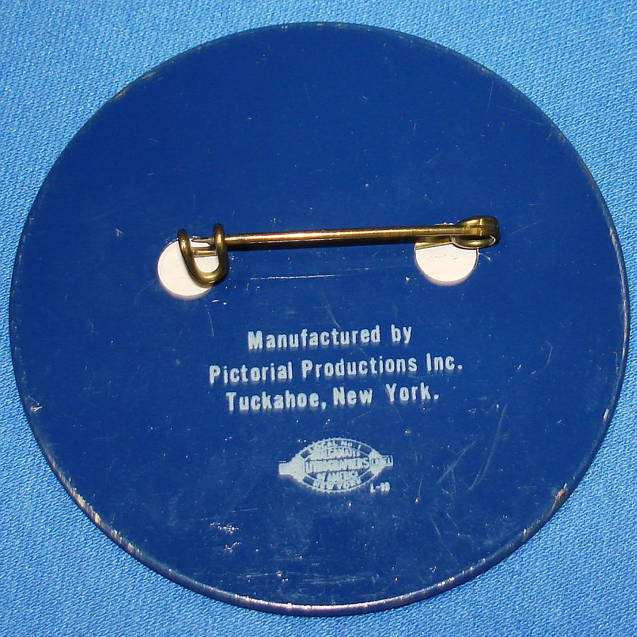 Vintage Dwight David Eisenhower Presidential Political Flasher Pin Back Tuckahoe New York