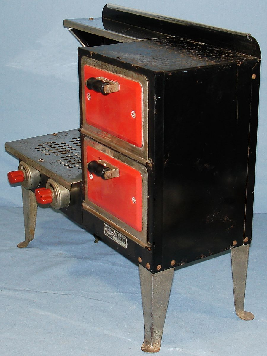 Vintage Metal Ware Corporation Empire Toy Electric Stove B27 Handles