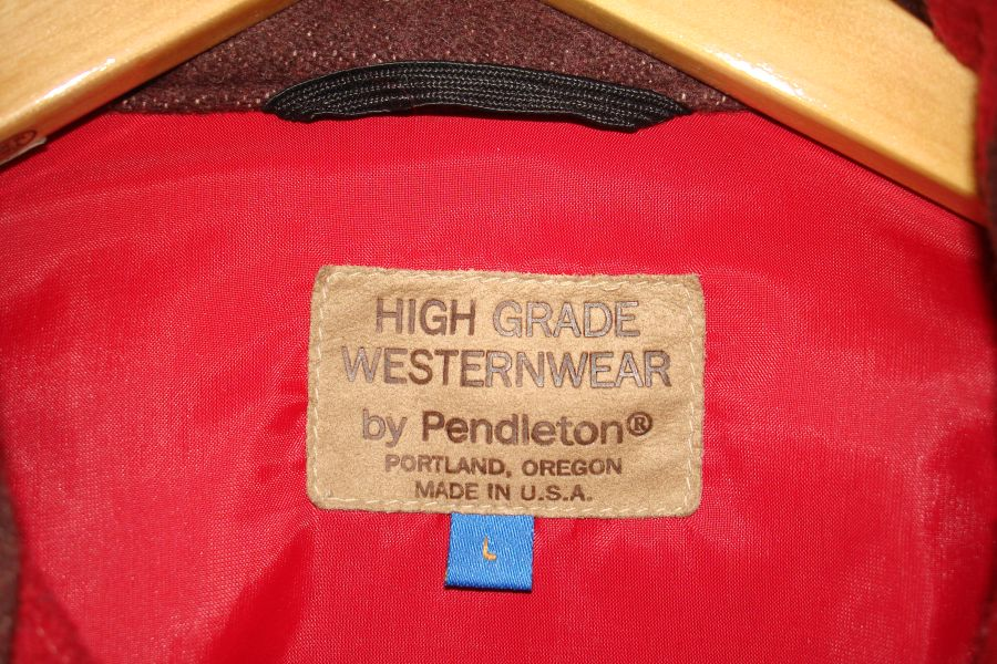 Vintage Pendleton Native American Blanket Jacket Mens Large Label