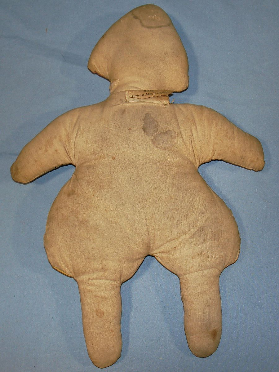 1927-28 Antique Slumber Toys Oakhurst Studios Cloth Dutch Boy Doll Back