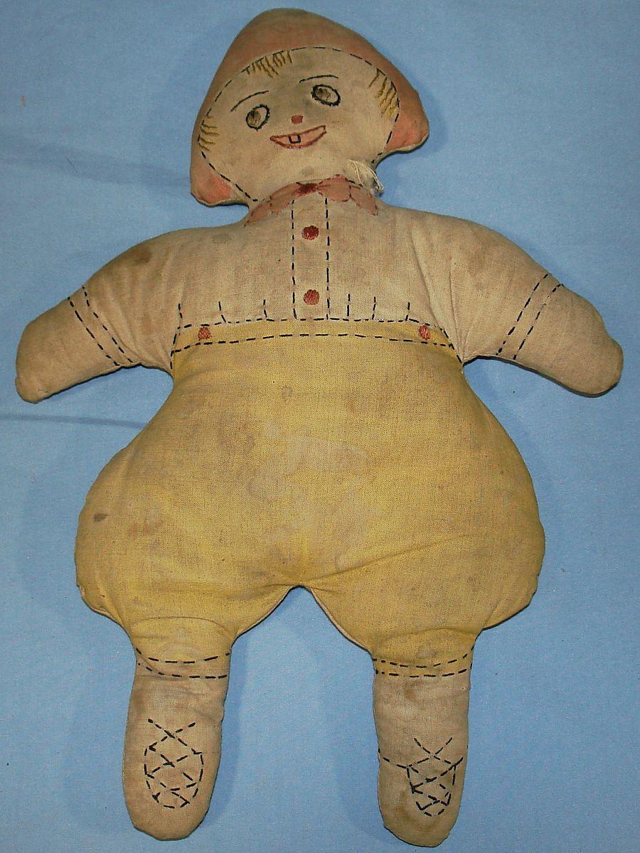 1927-28 Antique Slumber Toys Oakhurst Studios Cloth Dutch Boy Doll Face