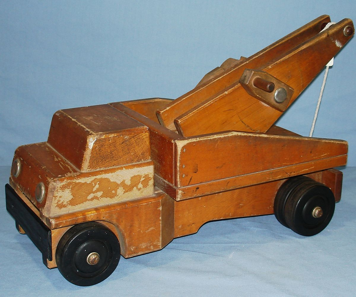 Vintage 1960`s Community Rifton NY Wood Tow Truck Driver Side