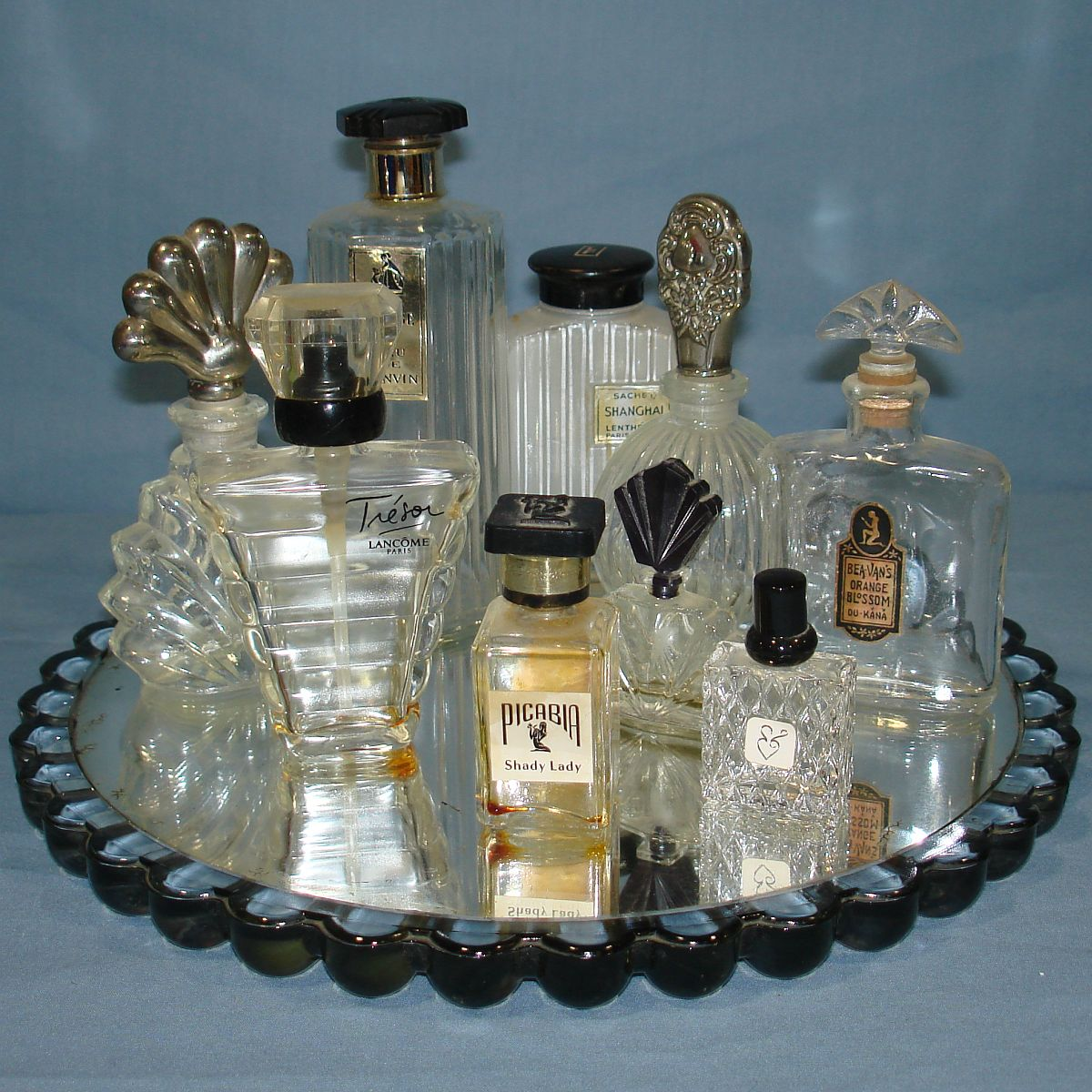 Vintage Crystal Clear Glass Empty Perfume Bottle Lot