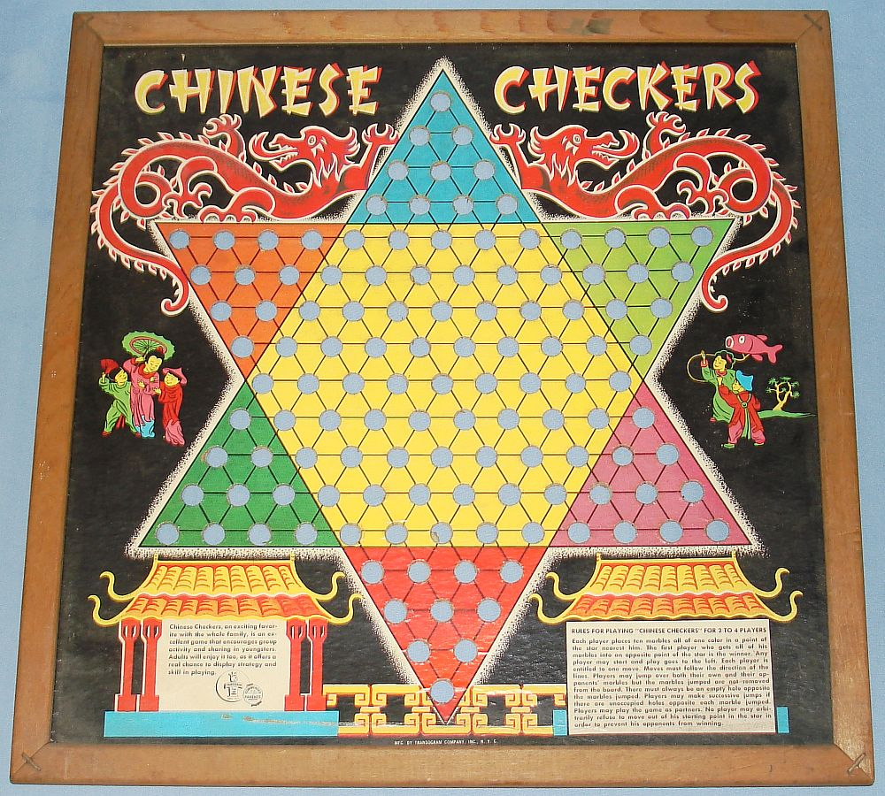 Vintage Toys And Games : Vintage transogram toys and games chinese checkers board