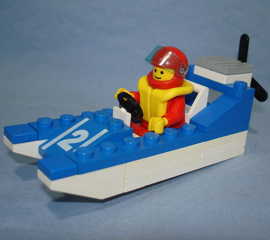 Lego Legoland Wave Racer Speed Boat Vehicle & Minifig #6508 Port