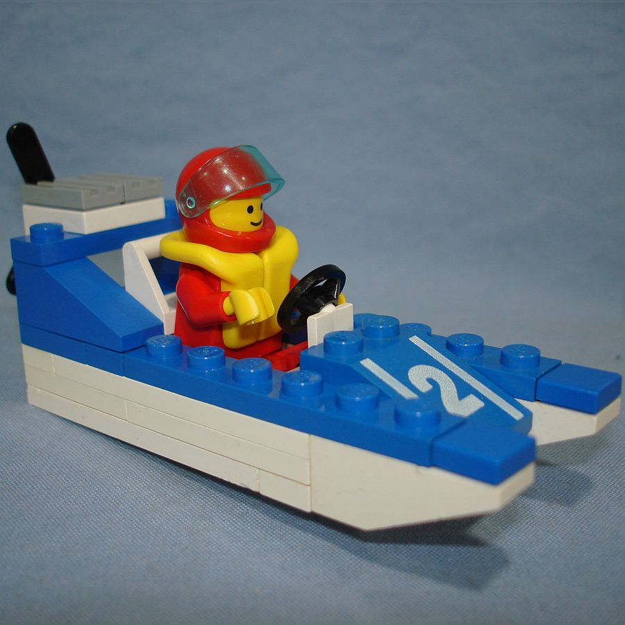 Lego Legoland Wave Racer Speed Boat Vehicle & Minifig #6508 Starboard