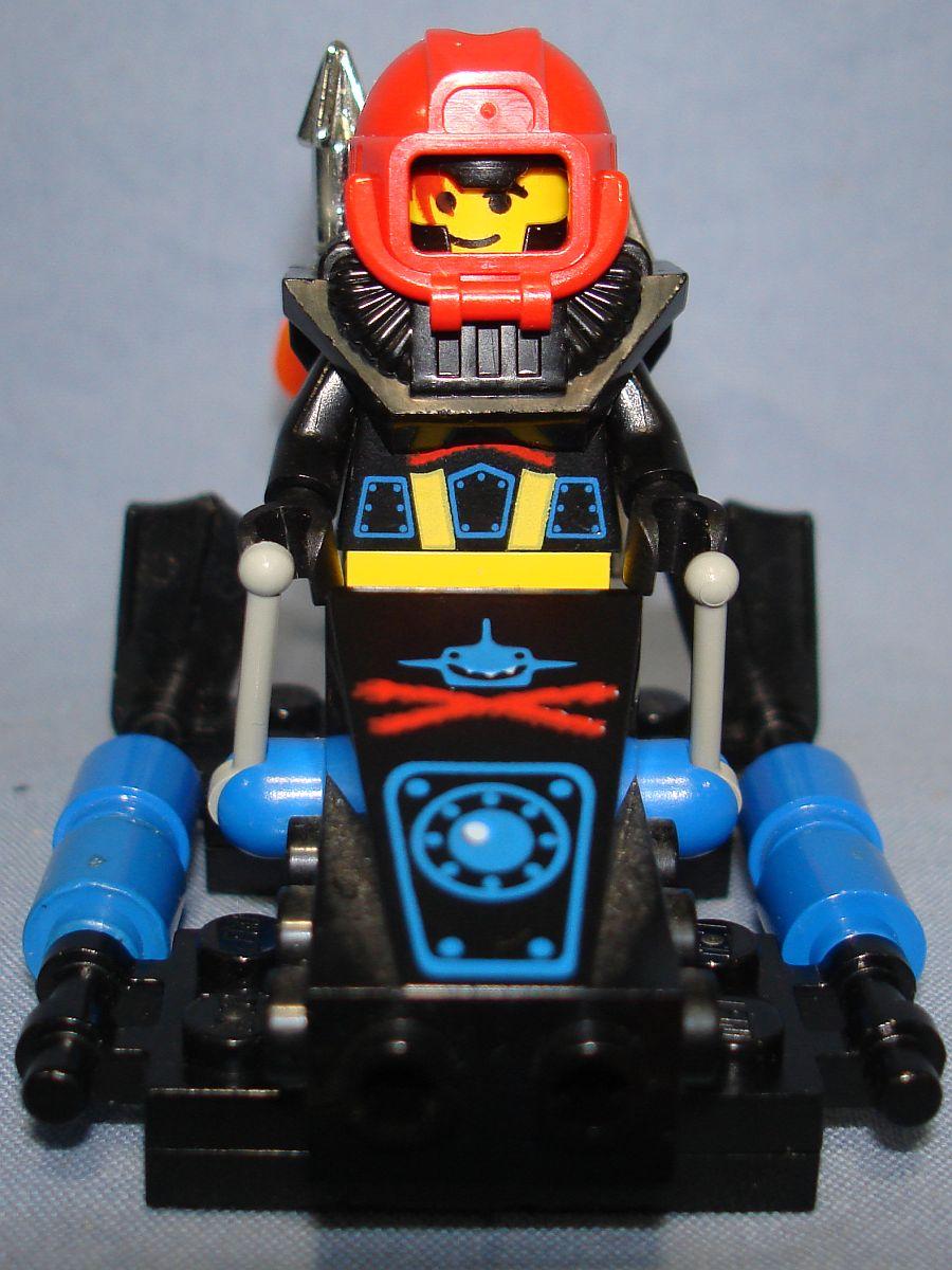 Lego System Aquazone Shark Scout Sub Vehicle & Minifig #6115 Bow
