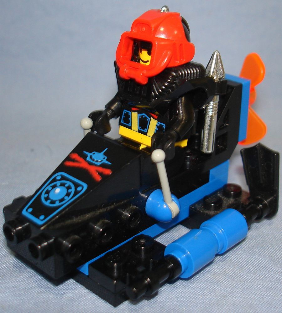Lego System Aquazone Shark Scout Sub Vehicle & Minifig #6115 Port