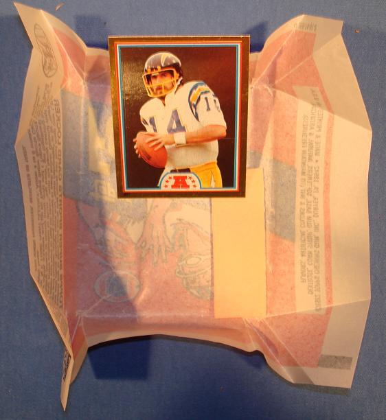 Topps 1982 Dan Fouts Foil Card