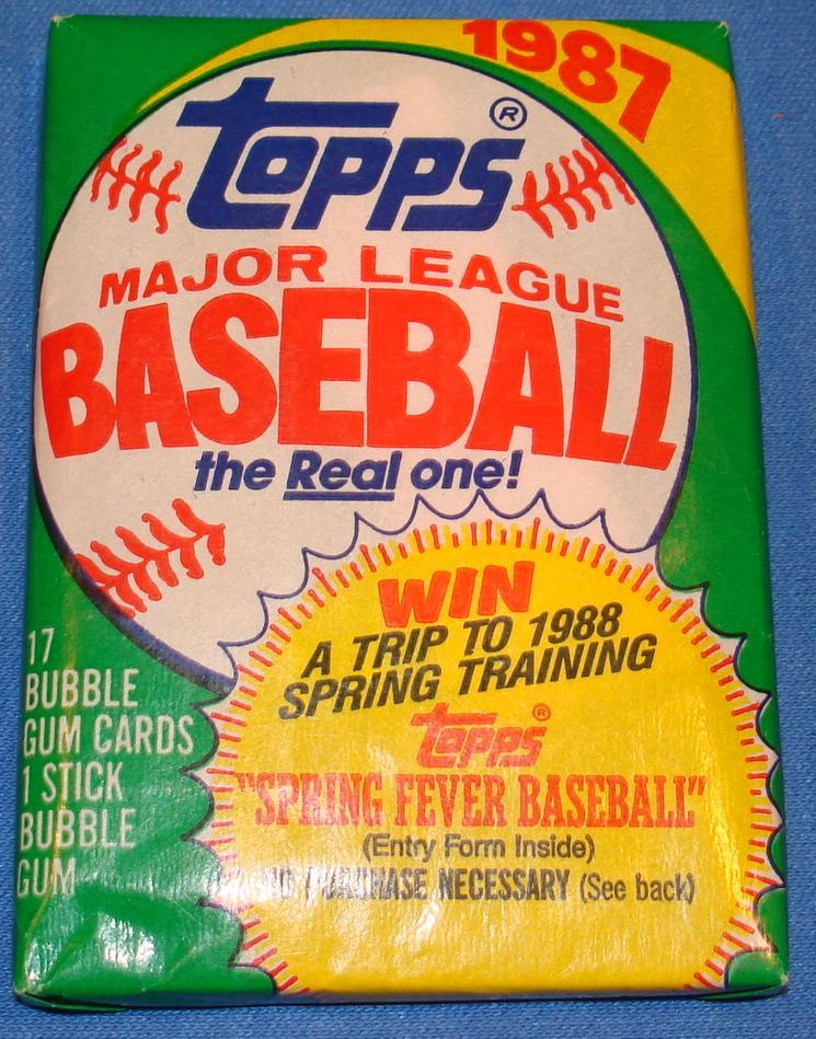 Topps 1987 Baseball Card Pack