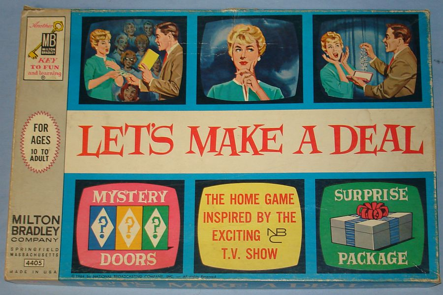Vintage 1964 NBC Milton Bradley Let`s Make A Deal Game Box Lid