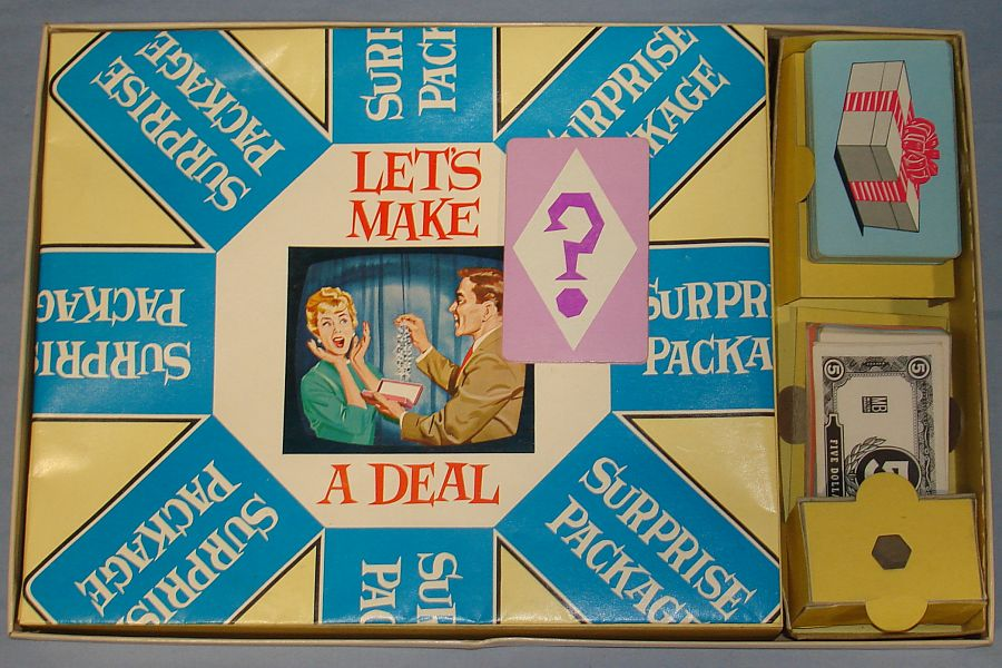Vintage 1964 NBC Milton Bradley Let`s Make A Deal Game Contents