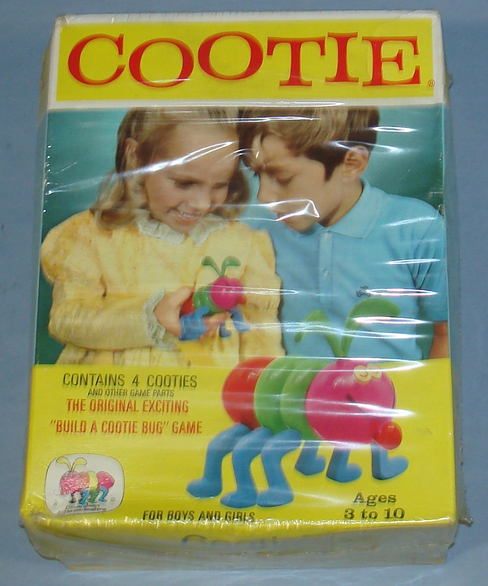 Vintage 1972 Schaper Manufacturing Company Cootie Bug Game #200B Box Front