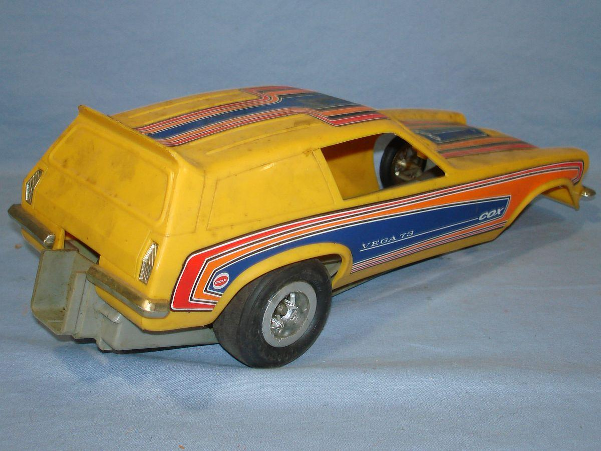 Vintage Chevrolet Vega Kammback Wagon Yellow Funny Car Trunk