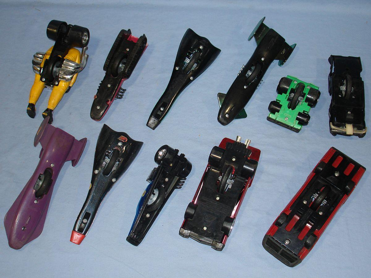 Vintage Kenner SSP Super Sonic Power Racers Lot Chassis