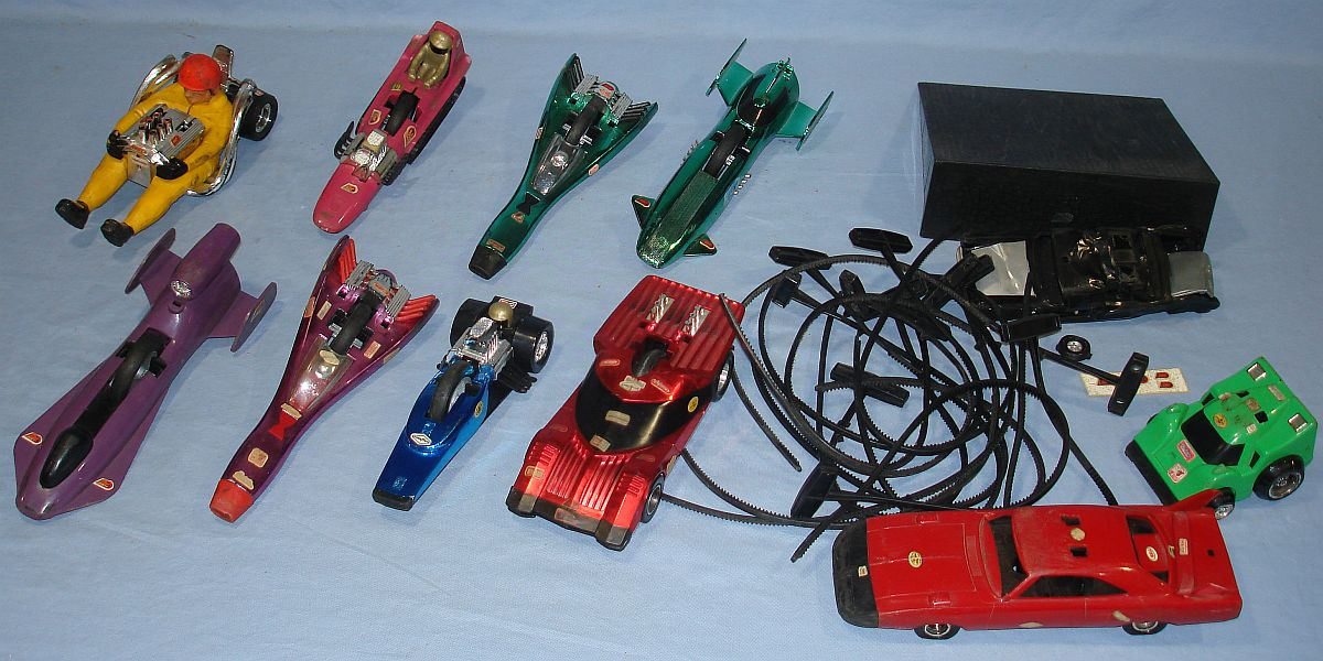Vintage Kenner SSP Super Sonic Power Racers Lot Pull Cords
