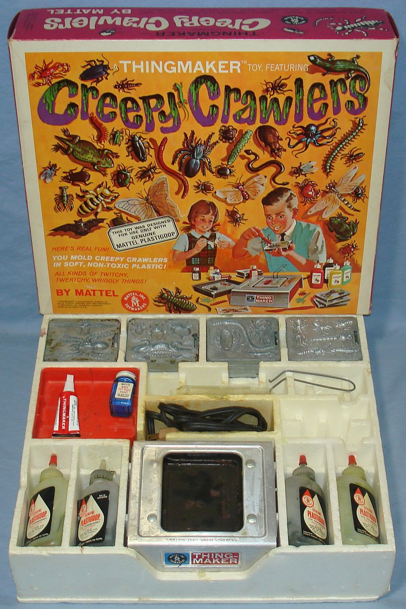 1964 Vintage Mattel Thingmaker Toy Creepy Crawlers Box Contents