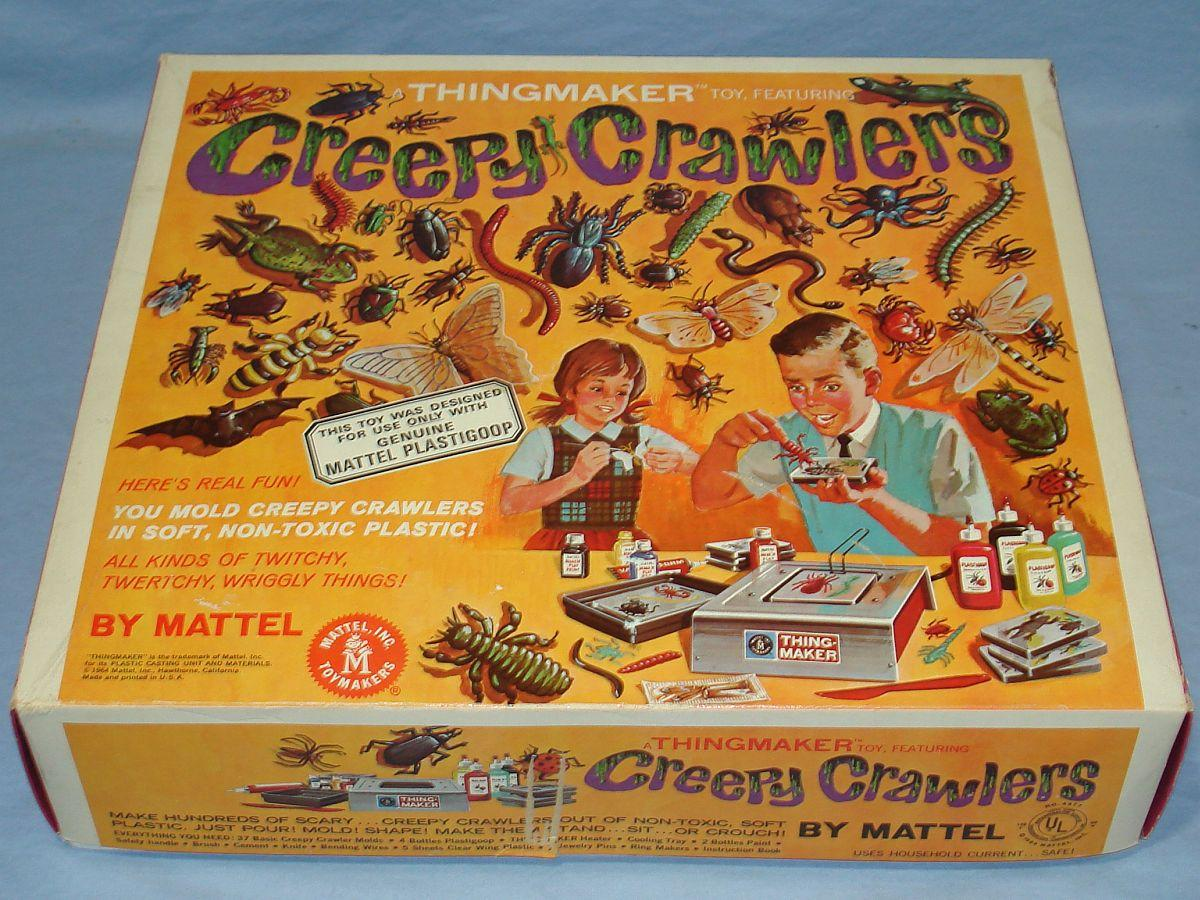 1964 Vintage Mattel Thingmaker Toy Creepy Crawlers Box Lid #4477