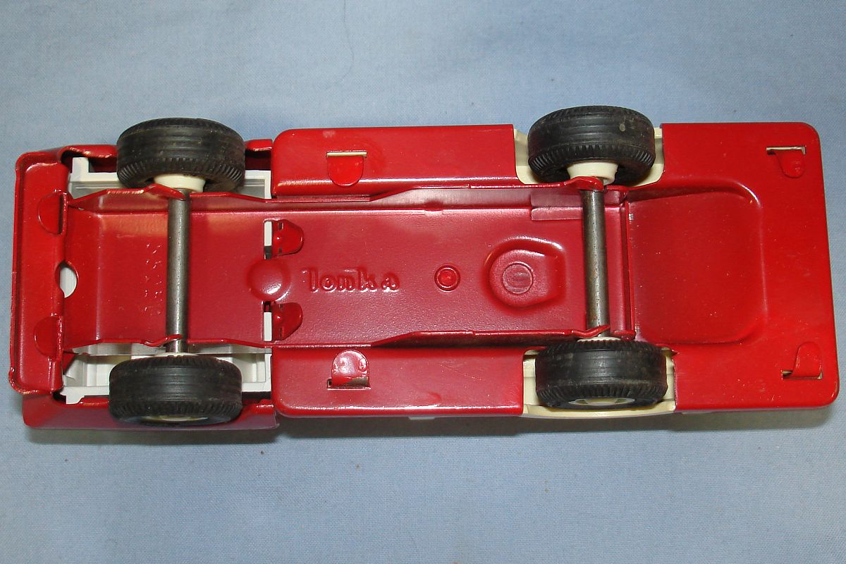 Vintage Mini Tonka Red Fire Engine Pumper #595 Chassis Axles Wheels