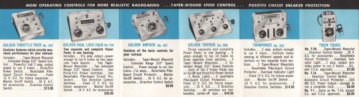 MRC Model Rectifier Corporation HO Gauge Model Railroad Toy Transformer Train Pamphlet