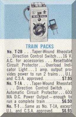 MRC Model Rectifier Corporation HO Gauge Model Railroad Toy Transformer Train Pack