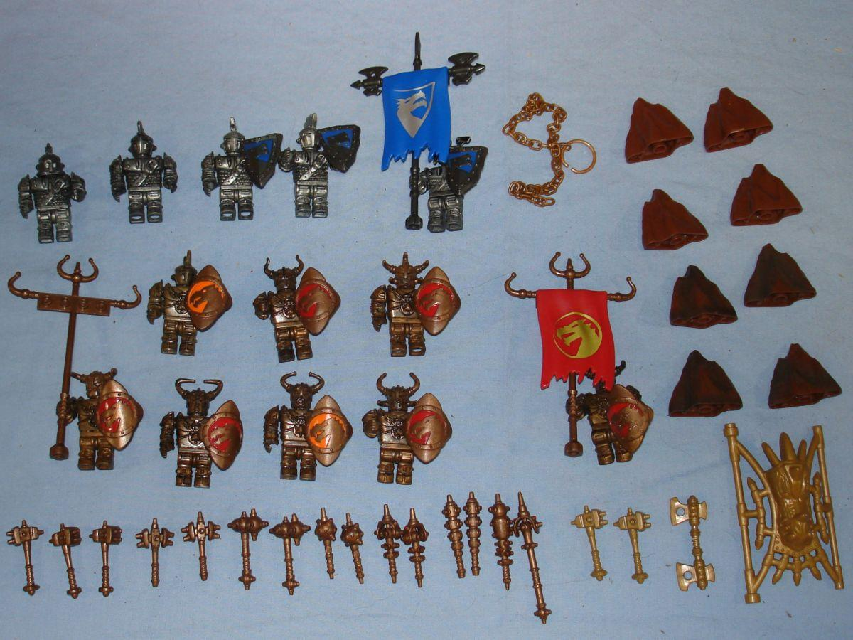 Mega Bloks Tyco Dragons Knights Warriors Play Set Figures Weapons Shields