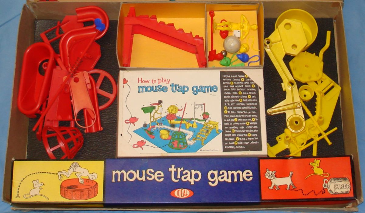 Ideal Mouse Trap Game Box Contents