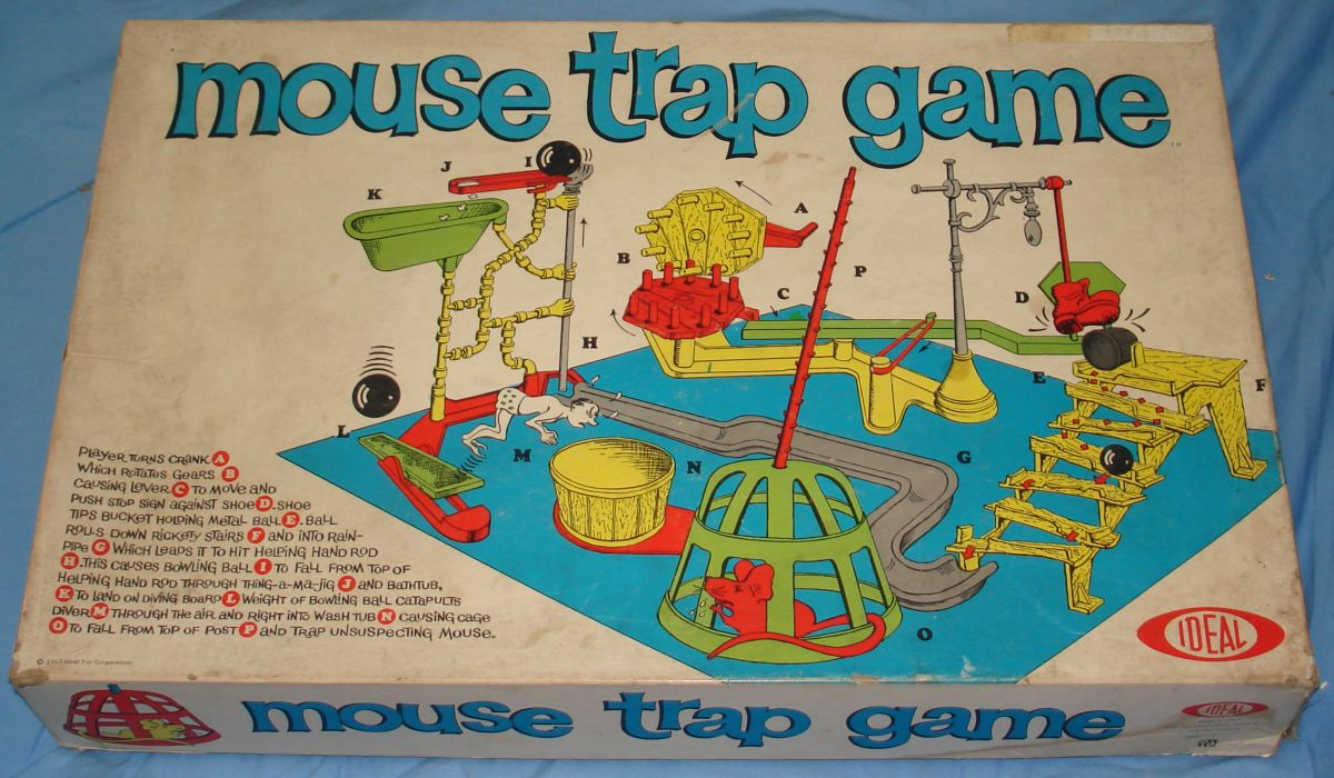 Ideal Mouse Trap Game Box Lid
