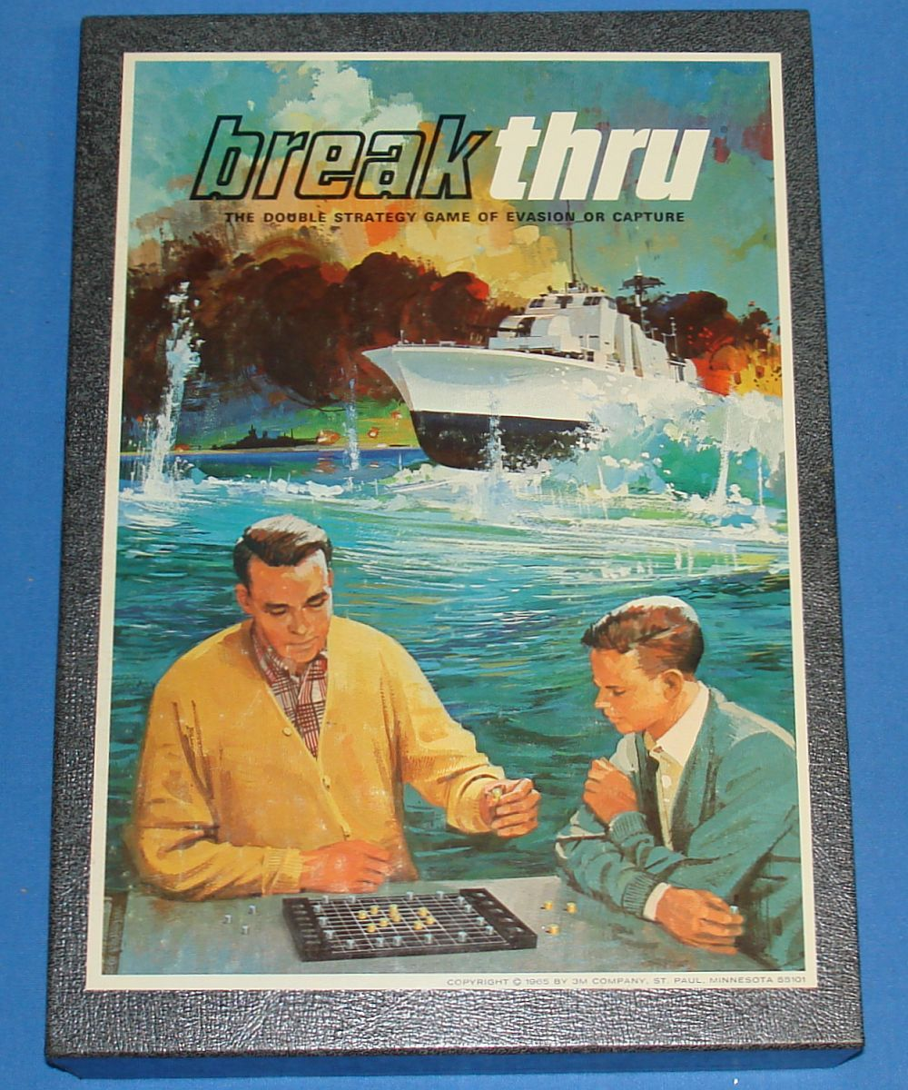 Vintage 3M Bookshelf Board Game Evasion Or Capture Breakthru Box Lid