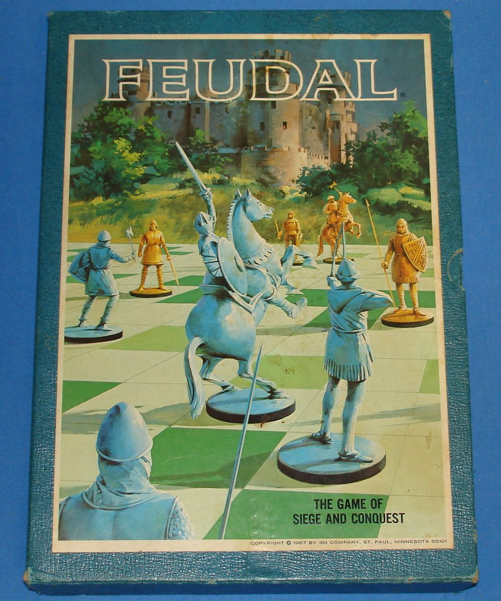 Vintage 3M Bookshelf Board Game Of Siege And Conquest Feudal Box Lid