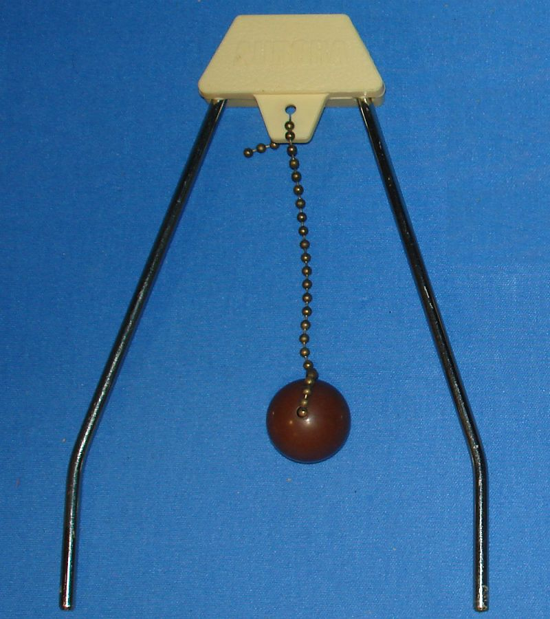 Vintage Aurora Plastics Corporation Skittle Poker Game #5520 Wire A-Frame Chain Cue Ball Pendant