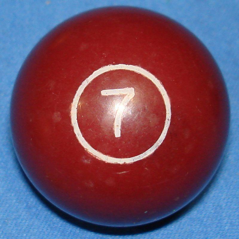 Vintage Aurora Plastics Corporation Skittle Pool Game #5511 Brown Seven 7 Ball