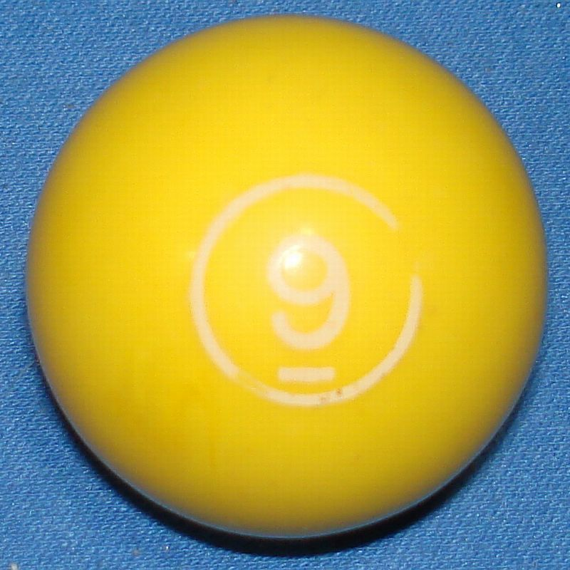 Vintage Aurora Plastics Corporation Skittle Pool Game #5511 Yellow Nine 9 Ball