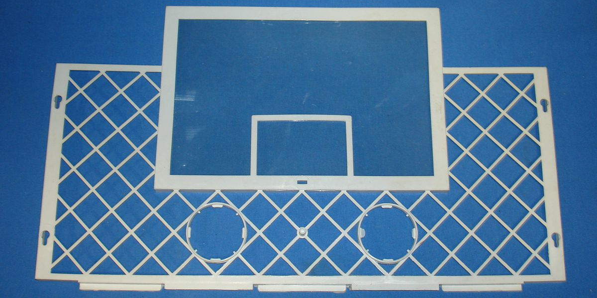Vintage Coleco Pro-Stars Action Basketball Game #5405 White Plastic Backboard & Scoreboard