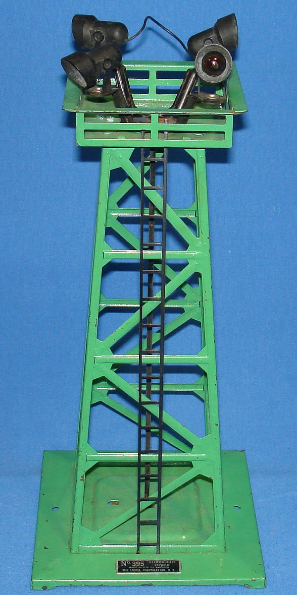 Vintage Lionel Corporation Green Train Floodlight Tower #395 Ladder