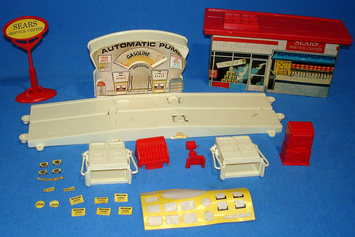 Sears Motorific Super Torture Track Set Ideal Toy #492001 Service Center Stickers