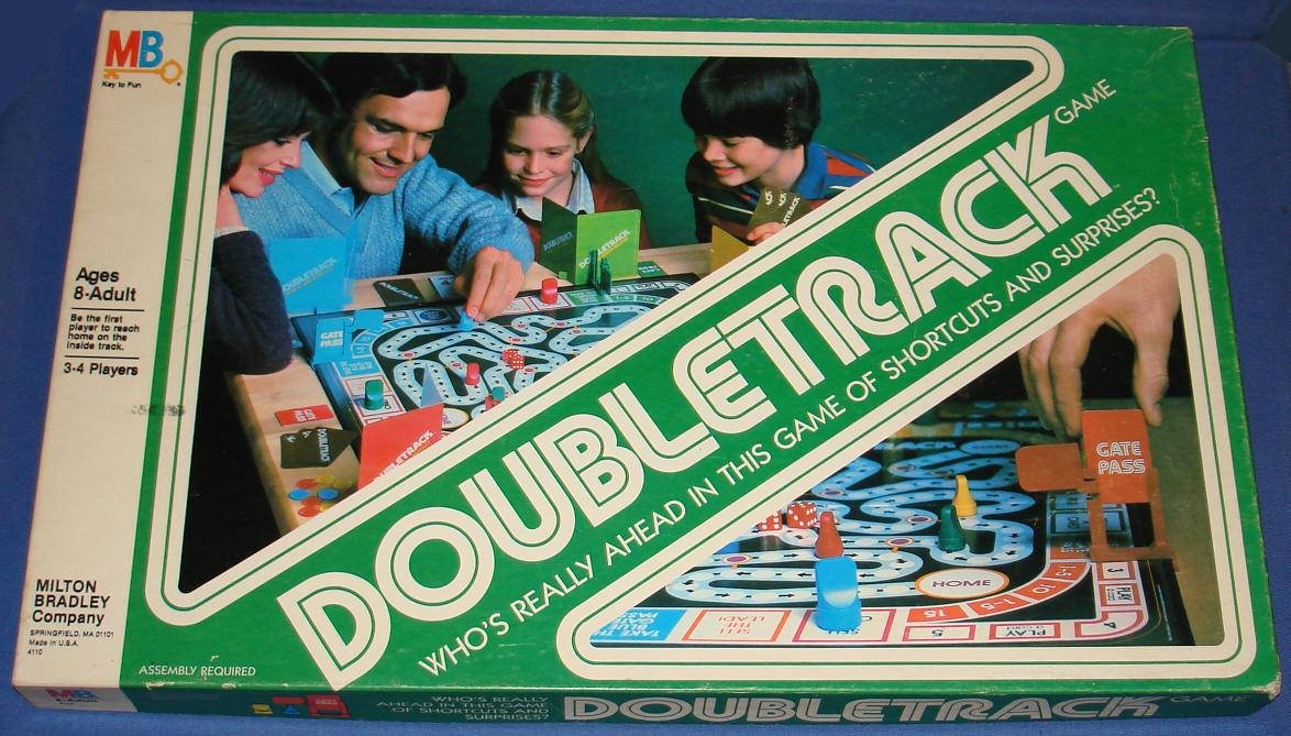 Milton Bradley Doubletrack Board Game Box