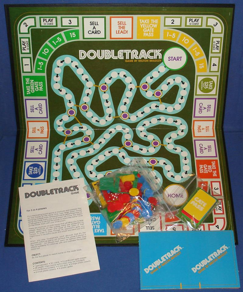 Milton Bradley Doubletrack Board Game Contents