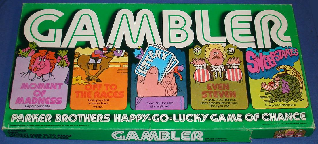 Parker Brothers Gambler Board Game Box