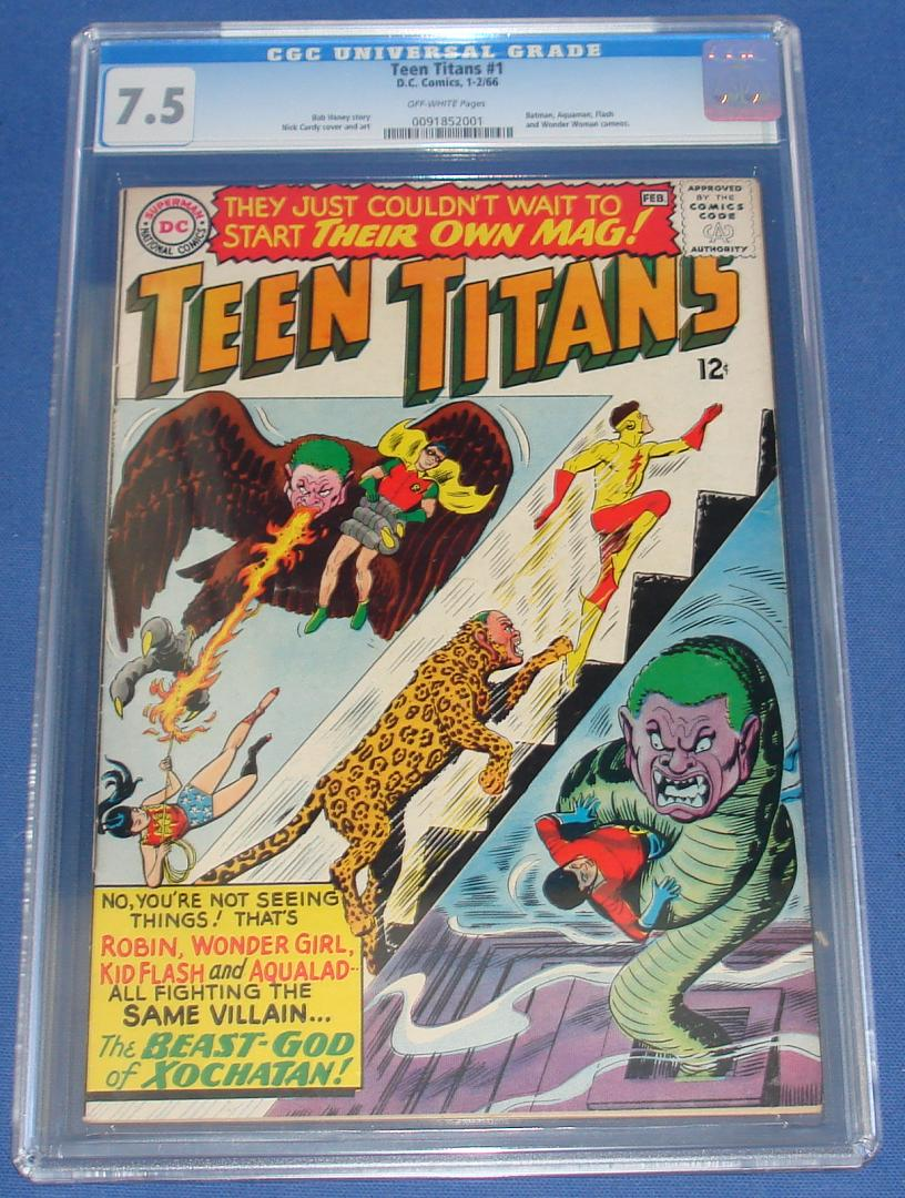 DC Comic Books Teen Titans Issue Number 1