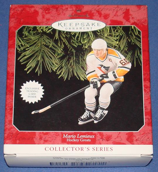 Mario Lemieux #66 Pittsburgh Penguins NHL Hockey Hall Of Fame Hallmark Keepsake Ornament