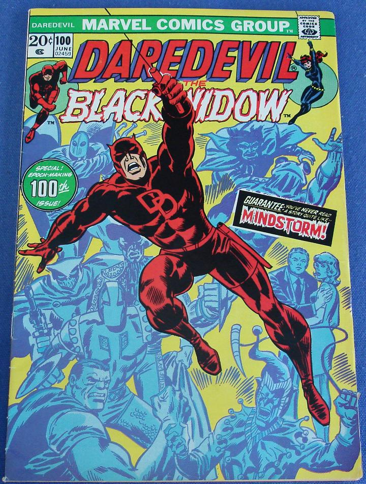 Marvel comic books daredevil the man without fear issue number 100