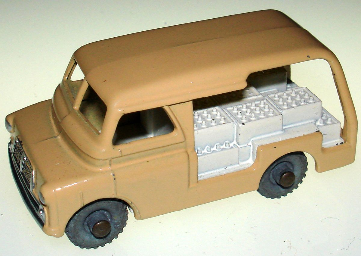 Vintage Matchbox Moko Lesney Grey Wheel Bedford Milk Delivery Van 29