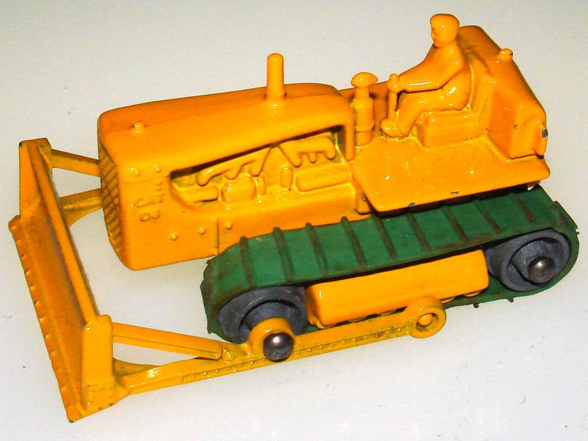 Vintage Matchbox Moko Lesney Grey Wheel Caterpillar Bulldozer 18
