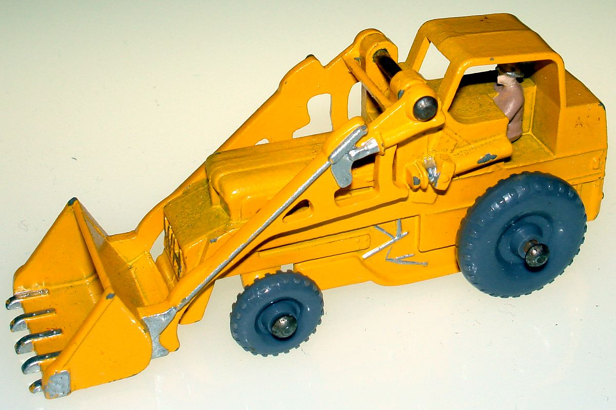 Vintage Matchbox Moko Lesney Grey Wheel Weatherill Hydraulic Excavator 24