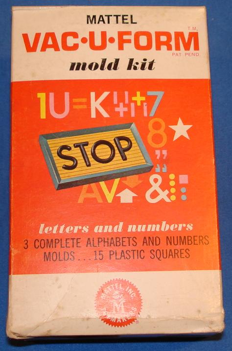 Mattel MIB Vacuform Letters & Numbers Model Kit 435