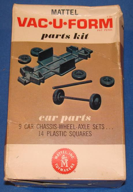 Mattel MIB Vacuform Car Parts Model Kit 436