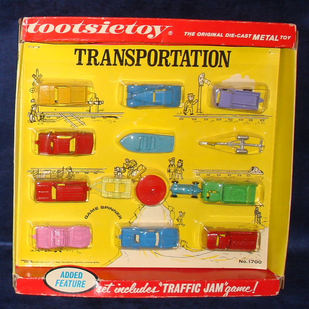 Vintage Tootsietoy Diecast Metal Transportation Vehicles Set 1700 Cars Trucks Boats