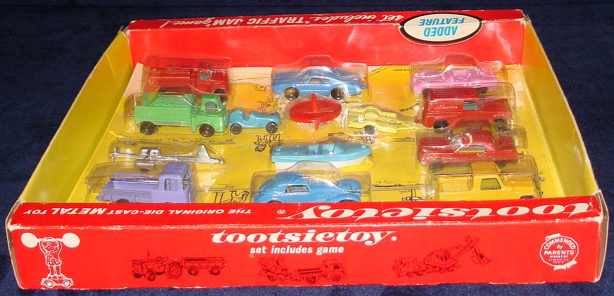Vintage Tootsietoy Diecast Metal Transportation Vehicles Set 1700 Box Top Panel