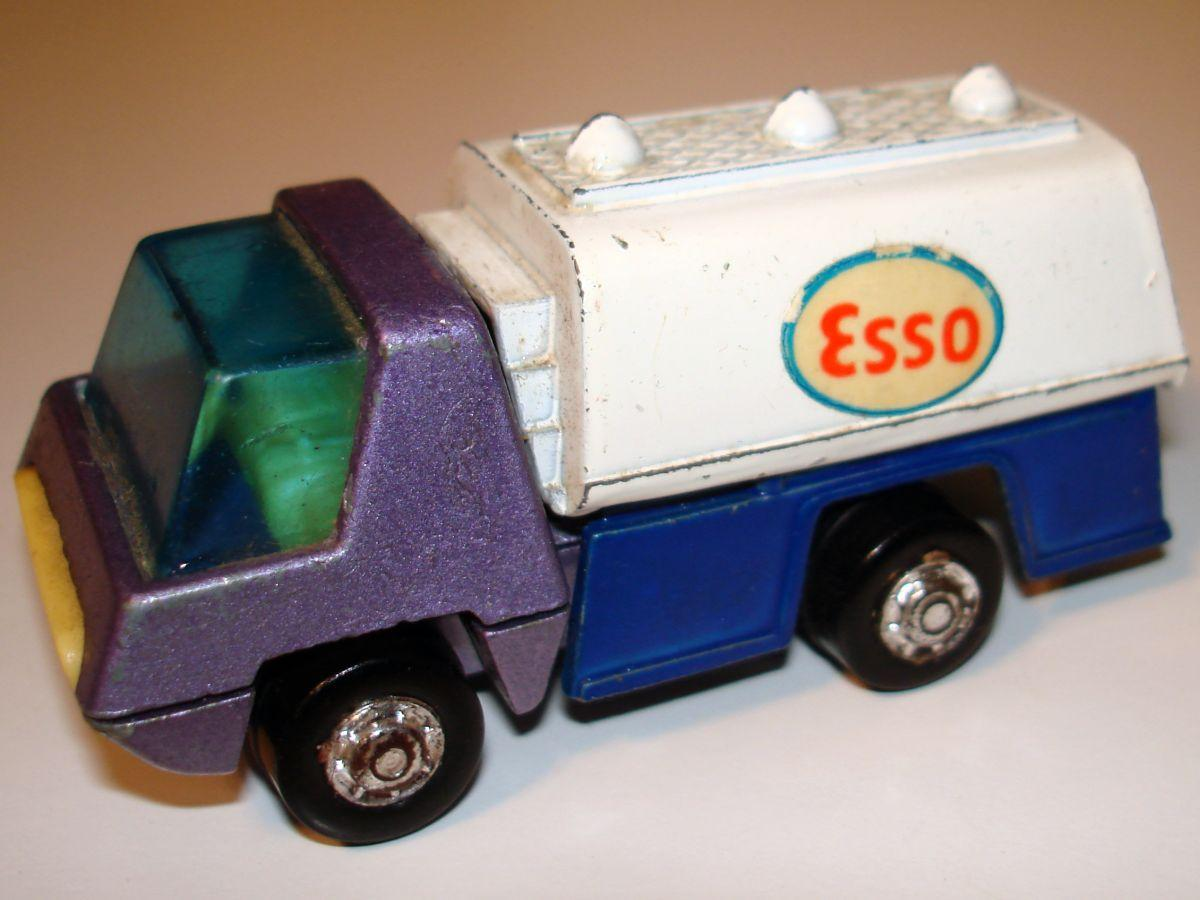 Vintage Playmart Made In Hong Kong Esso Oil Tanter Gasoline Truck Cab
